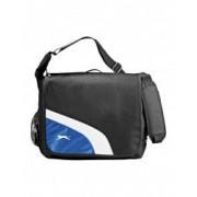 Geanta de umar pentru Laptop 17 inch Everestus WY 600D poliester negru albastru saculet si eticheta bagaj incluse