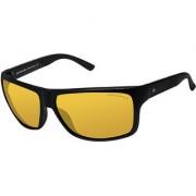 David Blake Yellow Rectangular Polarised & UV Protected Sunglass
