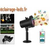 Projecteur LED extérieur ambiance Noel 12 scénarios ref dlf-01