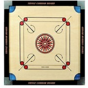 MJ Quality ( combo )20 x20 inches Brown carrom board ludo Game with free 24 coins 2 striker 1 powder best matarial Board Game ()