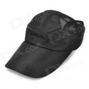 Sombrero al aire libre al aire libre del casquillo del acoplamiento del recorrido del sol de Sun - negro