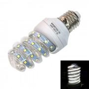 E27 7W espiral cristal LED lampara blanco frio 6000K 560lm 36-2835 SMD