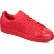 ADIDAS ORIGINALS SUPERSTAR GLOSSY TOE W Sneakers For Women(Red, Black)