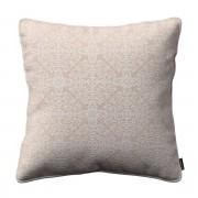 Dekoria Poszewka Gabi na poduszkę, wzory na beżowym tle, 45 × 45 cm, Flowers