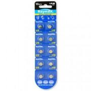 Raymax Batteries Batterie a bottone Alcalina LR48 LR754 393 AG5 (set 10 pz)