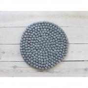 Wooldot Ocelově šedý kuličkový vlněný podsedák Wooldot Ball Chair Pad, ⌀ 39 cm
