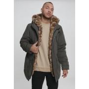 Hooded Faux Fur Parka darkolive XXL