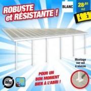 OUTIROR Toit-terrasse alu & polycarbonate - Feria 310 - blanc