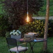 Luci Da Esterno Lampada LED con estetica vintage Maxi Pera 4W Vetro Oro