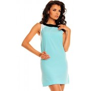 Sukienka NA8 (niebieski-wzór)
