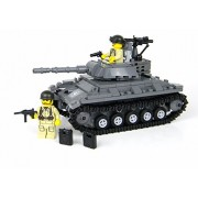 Deluxe US Army Chaffee Tank World War 2 Complete Set made w real LEGO bricks - Battle Brick Custom Set