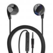 4smarts In-Ear Stereo Headset Melody - слушалки с управление на звука и микрофон за мобилни устройства (черен)
