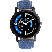 Sky Blue-White Dial Analogue Men's Watch By Taj Avenue