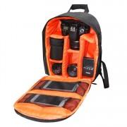 INDEPMAN DL-B012 fotós hátizsák GoPro, SJCAM, Nikon, Canon, Xiaomi Xiaoyi YI, Méret: 27.5 * 12.5 * 34 cm - NARANCS