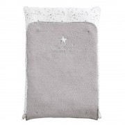 Maisons du Monde REVES White and Grey Cotton Baby Changing Mat 52 x 75 cm