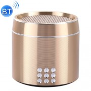 Portable True Wireless Stereo Mini Bluetooth Speaker with LED Indicator & Sling for iPhone Samsung HTC Sony and other Smartphones (Gold)