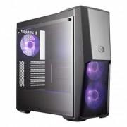 "Carcasa COOLER MASTER MasterBox MB500, tempered glass, mid-tower, ATX,3* 120mm RGB fan (incluse), I/O panel, black ""MCB-B500D-KGNN-S00"""