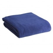Geen Fleece deken/plaid blauw 120 x 150 cm