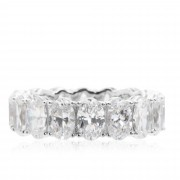 Diamonique Anello stile eternity pari a 10.20ct in argento 925
