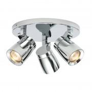 Endon Lighting 3 Light salle de bain Spotlight chrome, verre clair ...