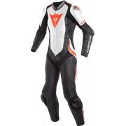 Dainese Laguna Seca 4 1st perforerade kvinnors läder kostym Svart Vit Röd 42