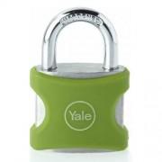 Lacat din aluminiu verde cu cheie Yale YE3/38/119/1/G