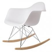 Charles Eames schommelstoel RAR PP wit