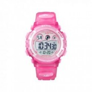 Ceas de copii sport SKMEI 1451 waterproof 5ATM cu cronometru alarma data si iluminare ecra roz