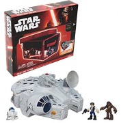 Bundle Includes 2 Items - Playskool Heroes Star Wars Galactic Heroes Millennium Falcon and Figures and Star Wars ZipBin Space Case