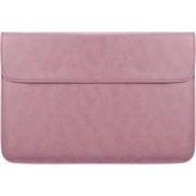 Let op type!! PU01S PU lederen horizontale onzichtbare magnetische gesp laptop binnenzak voor 14 1 inch laptops (roze)