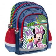 Ghiozdan Minnie Mouse, mediu, pentru scoala, 38x29x19,5 cm