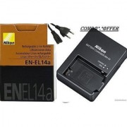 Nikon EN-EL14A + CHARGER for D-3100 D5100 and P700
