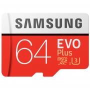 Memoria Micro SD SAMSUNG Class10 EVO PLUS 64GB - Rojo