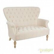 Canapea 2 locuri design retro-romantic ARLETTE 3520 bej 0748111 BZ