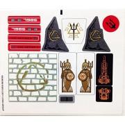 """Lego Original Sticker Sheet For The Atlantis Set #7985 """"City Of Atlantis"""""""