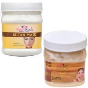 PINK ROOT DE TAN MASK 500GM WITH GOLD SCRUB 500GM