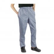 Chef Works Essential Baggy Pants Small Blue Check XL Size: XL