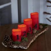 LED lumânări Advent - roșu