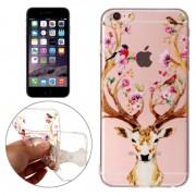Apple Voor iPhone 6 Plus & 6s Plus Cervus Nippon patroon TPU beschermhoes