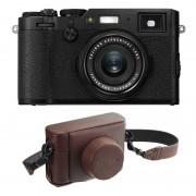 Fujifilm X100F Svart + Brun Väska