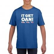 Shoppartners Blauw t-shirt Friesland It Giet Oan kinderen