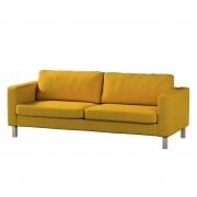 Dekoria Pokrowiec na sofę Karlstad 3-osobową nierozkładaną, krótki, musztardowy szenil, 204 x 89 x 64 cm, Etna