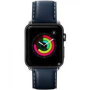 Apple LAUT Oxford Apple Watch 44MM / 42MM Bandje Echt Nappa Leer Indigo