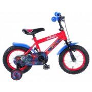 """Bicicleta pentru baieti ajustabila din otel cu roti ajutatoare 12"""" EandL CYCLES Spiderman"""