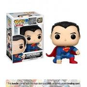 FunKo Superman: Funko POP! Heroes x Justice League Vinyl Figure + 1 Official DC Trading Card Bundle
