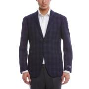【30%OFF】Classic Model チェック ノッチドラペル テーラードジャケット ネイビー 50 ファッション > メンズウエア~~ジャケット