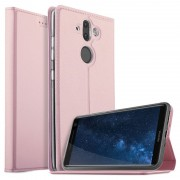 Nokia 8 Sirocco Flip Case with Card Holder - Rose Gold