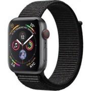 Apple Watch Series 4 44 mm Aluminium GPS + Cellular grau Sport Loop schwarz