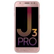 "Telefon Mobil Samsung Galaxy J3 Pro (2017), Procesor Quad-Core 1.4GHz, PLS Capacitive touchscreen 5"", 2GB RAM, 16GB Flash, 13MP, 4G, Wi-Fi, Dual Sim, Android (Roz) + Cartela SIM Orange PrePay, 6 euro credit, 4 GB internet 4G, 2,000 minute nationale si int"