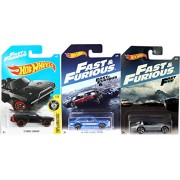 Ayb Products Hot Wheels Fast Furious 2017 Exclusive Ford Escort / Corvette Roadster Five & New Model Dodge Charger in Protective Cases